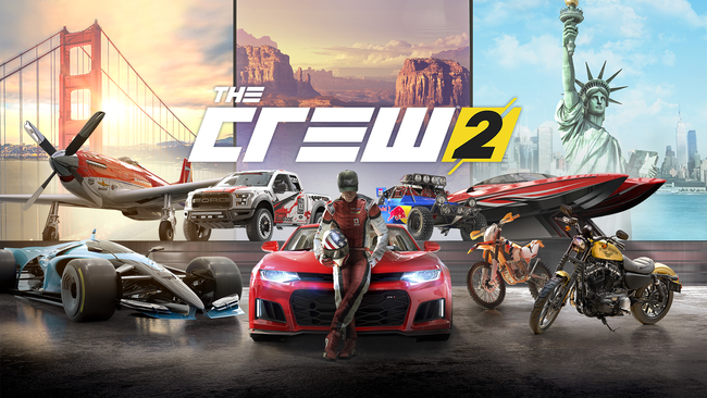 The Crew 2, Ubisoft, Ivory Tower, Ferrari, Audi, Dodge, Harley Davidson, USA, Rallye, Pro-Racing, Drift, Streetrace, Mercedes, Red Bull, KTM, Flugzeug, Boot, Motorrad, Offroad, Live Extreme, Fast Fav,
