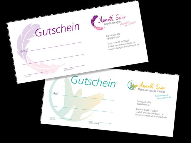 Gutscheine Massagen Betreuung Senioren Dement Annette Seier Greven