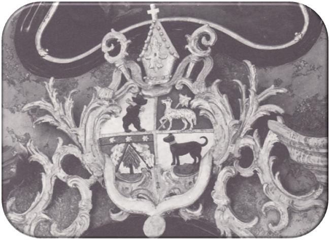 Wappen von Abt Beda Angehrn in der Näfelser Kirche (Foto: Fridolin Hauser)