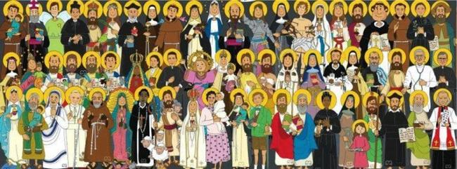 In meiner Kindheit predigte der Pfarrer von der Kanzel vor der bis auf den letzten Platz gefüllten Kirche, an Allerheiligen/Allerseelen seien alle Verstorbenen unsichtbar in der Kirche versammelt...