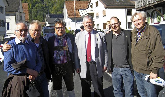 Nicht die sechs Siebengscheiten, sondern Säckinger Partnerschafter in Näfels am Samstag, 7. Oktober 2017 (Foto: Axel Kremp, Bad Säckingen)