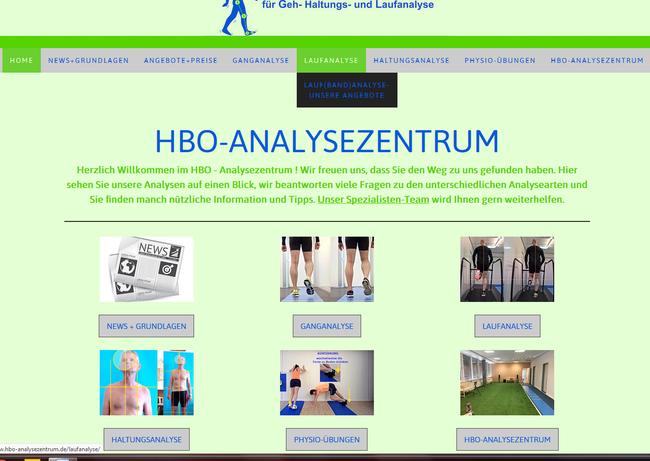 HBO Analysezentrum Bremen, eine komplette Webseite, damit die Analyseleistungen gefunden werden!
