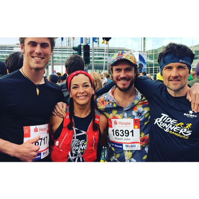 Lukas, Cec, John & Felix @Haspa Marathon Hamburg 2017