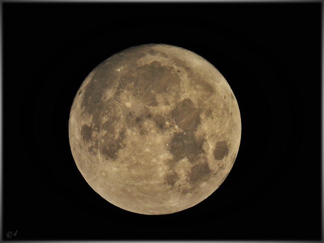 """Der """"Blaue Mond"""" am 22. August 2021 (im Selfkant aufgenommen)"""