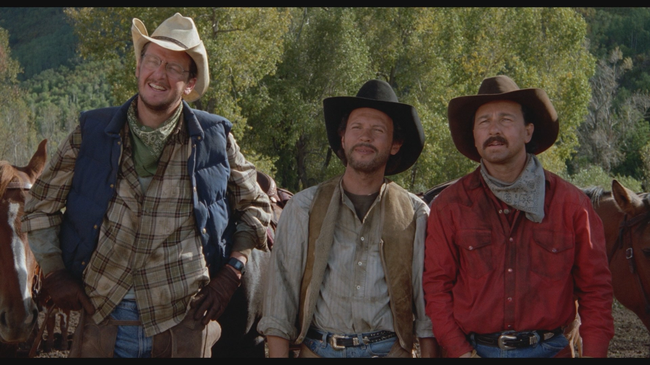 Daniel Stern, Billy Crystal & Bruno Kirby in City Slickers
