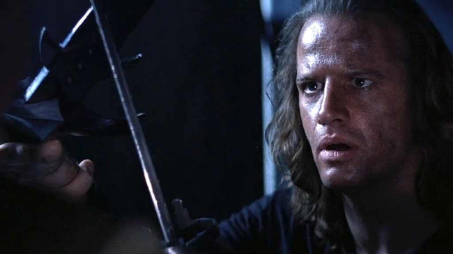 Christopher Lambert in Highlander II: The Quickening