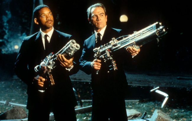 Will Smith & Tommy Lee Jones in Men in Black