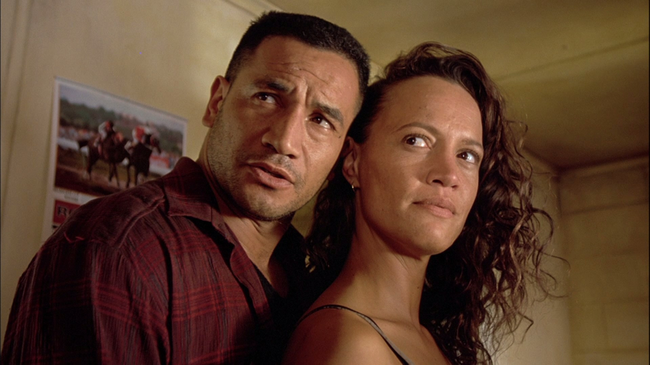 Temeura Morrison & Rena Owen in Once Were Warriors