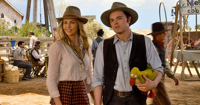 Charlize Theron & Seth MacFarlane in A Million Ways to Die in the West