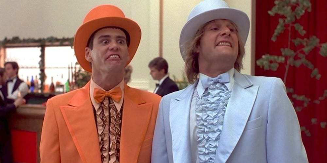 Jim Carrey & Jeff Daniels in Dumb & Dumber