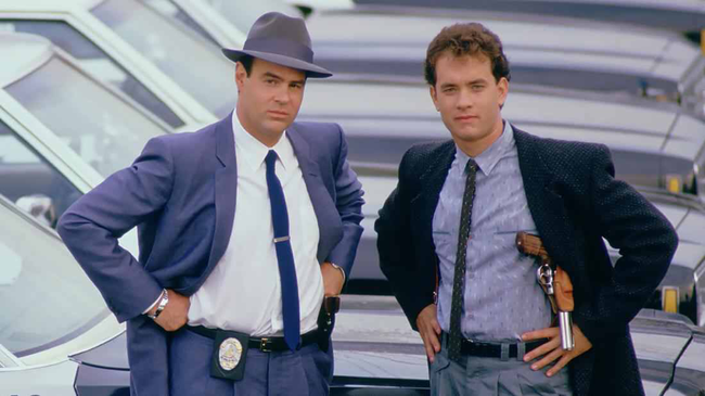 Dan Aykroyd & Tom Hanks in Dragnet