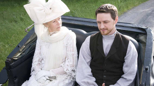 Helen Mirren & James McAvoy in The Last Station