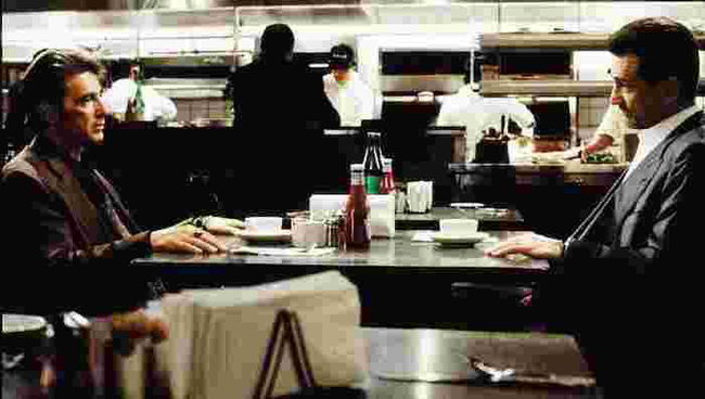 Al Pacino & Robert DeNiro in Heat
