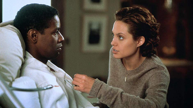 Denzel Washington & Angelina Jolie in The Bone Collector