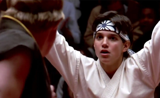 Ralph Macchio in The Karate Kid