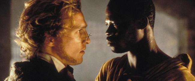 Matthew McConaughey & Djimon Hounsou in Amistad