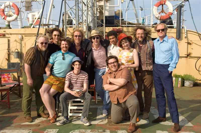 The cast of The Boat That Rocked