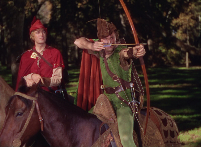Errol Flynn in The Adventures of Robin Hood