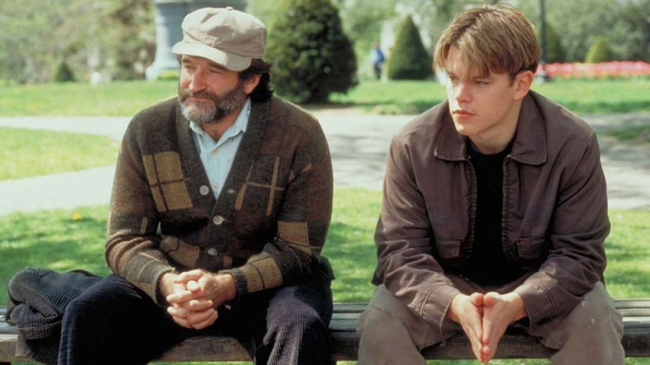 Robin Williams & Matt Damon in Good Will Hunting