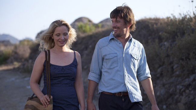 Julie Delpy & Ethan Hawke in Before Midnight