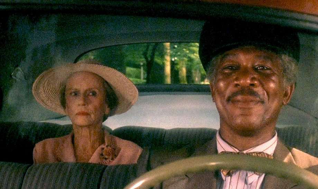 Jessica Tandy & Morgan Freeman in Driving Miss Daisy