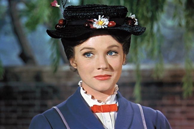 Julie Andews in Mary Poppins
