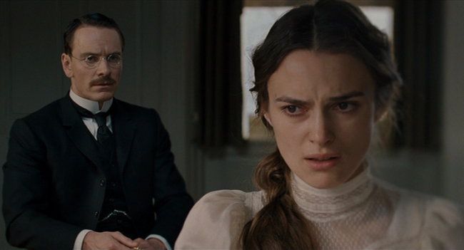 Michael Fassbender & Keira Knightley in A Dangerous Method