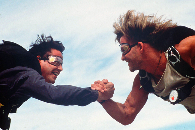 Keanu Reeves & Patrick Swayze in Point Break