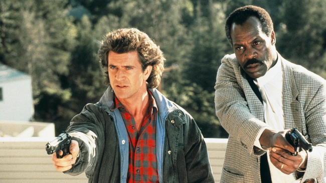 Mel Gibson & Danny Glover in Lethal Weapon