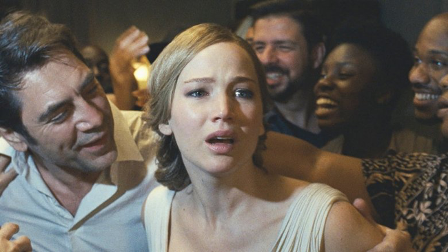 Javier Bardem & Jennifer Lawrence in Mother!