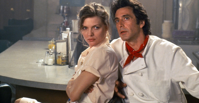 Michelle Pfeiffer & Al Pacino in Frankie & Johnny
