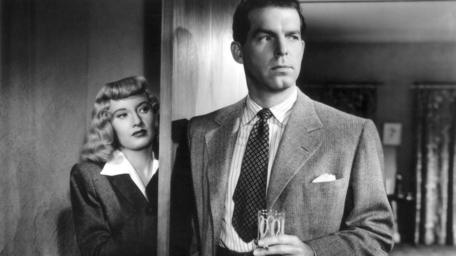 Barbara Stanwyck & Fred MacMurray in Double Indemnity