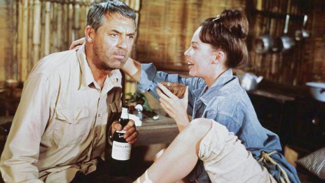 Cary Grant & Leslie Caron in Father Goose