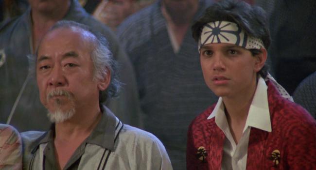 Noriyuki 'Pat' Morita & Ralph Macchio in The Karate Kid part II