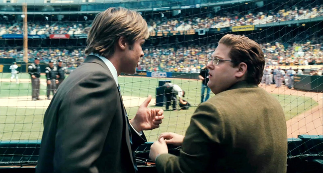 Brad Pitt & Jonah Hill in Moneyball