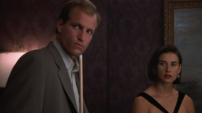 Woody Harrelson & Demi Moore in Indecent Proposal