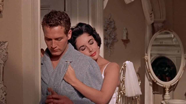 Paul Newman & Elizabeth Taylor in Cat On A Hot Tin Roof