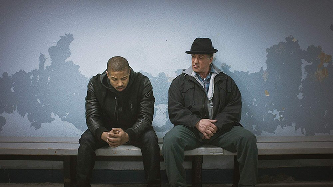 Michael B. Jordan & Sylvester Stallone in Creed