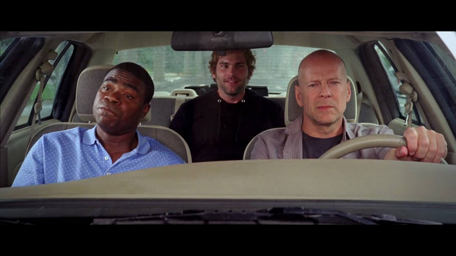Tracy Morgan, Seann William Scott & Bruce Willis in Cop Out
