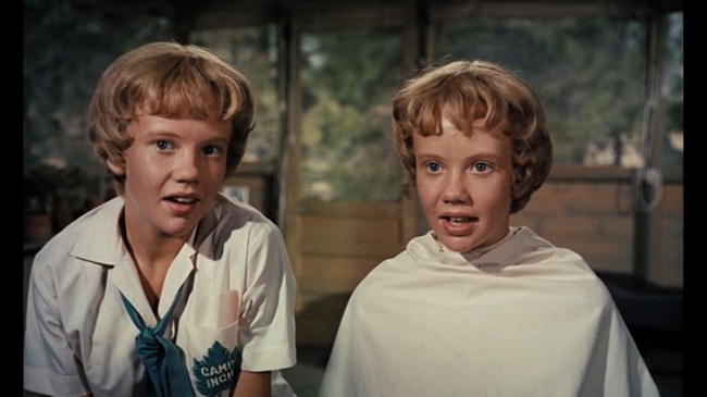 Hayley Mills (& Hayley Mills) in The Parent Trap