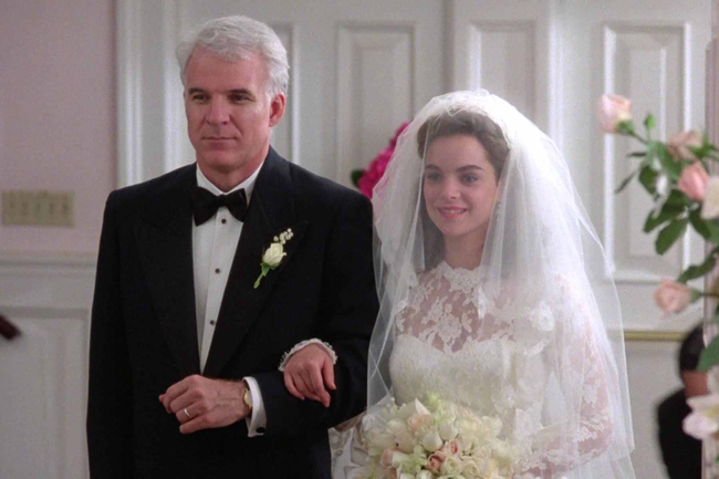 Steve Martin & Kimberley Williams in Father of the Bride