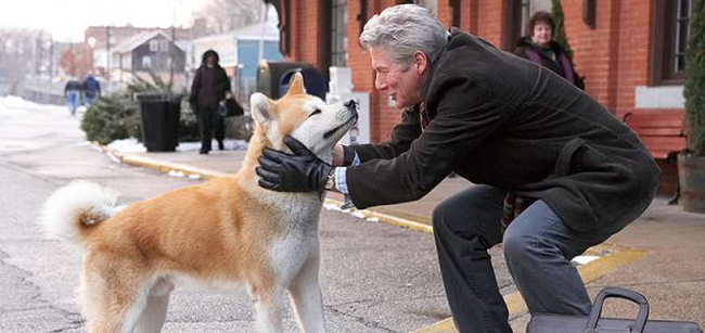Richard Gere in Hachi: A Dog's Tale
