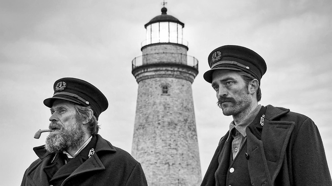 Willem Dafoe & Robert Pattinson in The Lighthouse