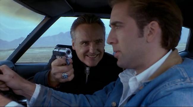 Dennis Hopper & Nicolas Cage in Red Rock West