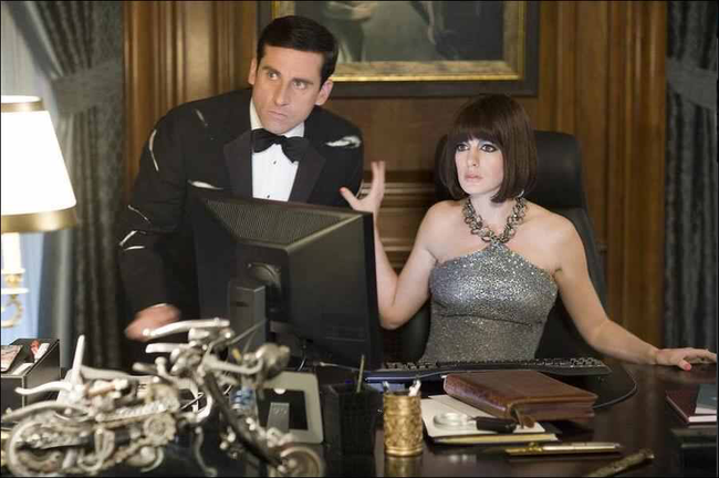 Steve Carell & Anne Hathaway in Get Smart