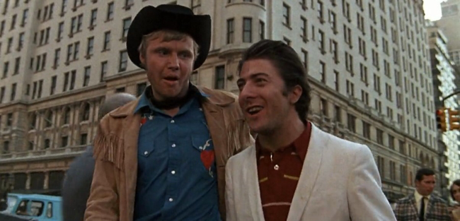 Jon Voight & Dustin Hoffman in Midnight Cowboy