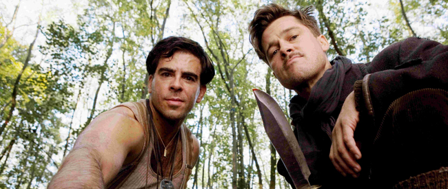 Eli Roth & Brad Pitt in Inglourious Basterds