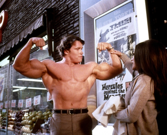 Arnold Schwarzenegger in Hercules in New York