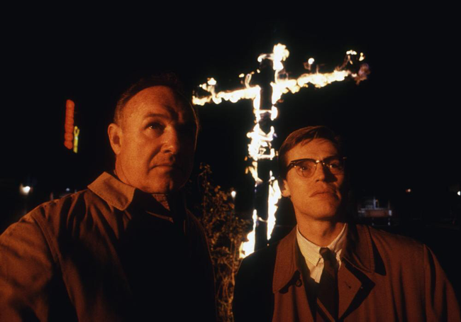 Gene Hackman & Willem Dafoe in Mississippi Burning