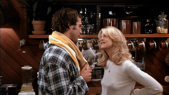Chevy Chase & Goldie Hawn in Foul Play